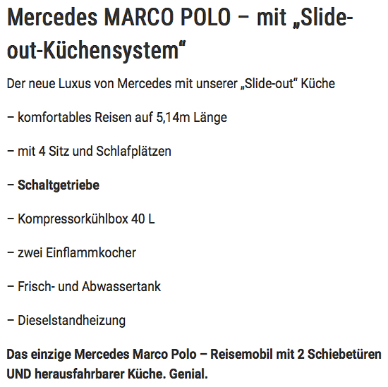 Reisemobil mit Schiebetüren in  Saarland