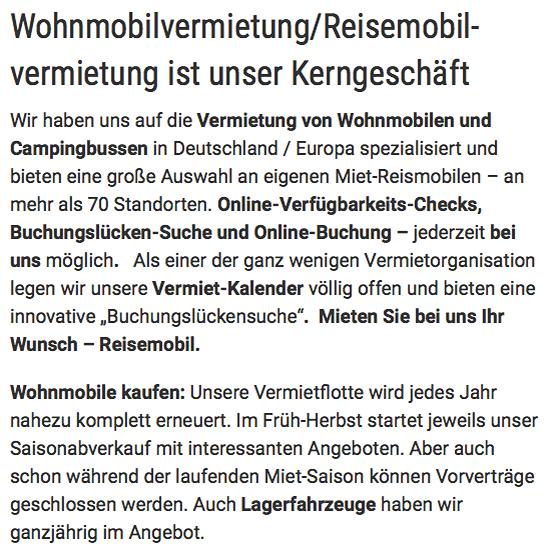 Wohnmobile günstig mieten aus  Saarland, Homburg, Neunkirchen oder Saarlouis